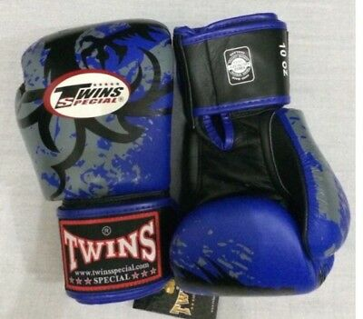 Twins TOP Boxing Gloves Blue/black 12oz