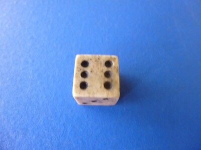 Revolutionary War Era Bone Gaming Die w/Trace of Royal Tax Stamp