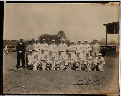 D & A STEERS BASEBALL TEAM PHOTO -  CIRCA 1925  -  CHILLICOTHE, OHIO -   8x10