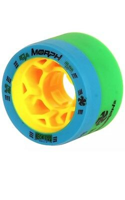 Reckless Morph Dual Durometer Derby Wheels 93A / 97A 59mm Green / Blue