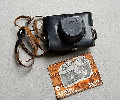 Zorki 4K Camera Owners Manual / Instruction Booklet and Leather Case