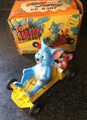 1973 Tom and Jerry Go Kart Friction Marx Toy