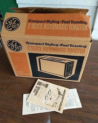 GE T-17 Vintage 2-Slice Automatic Toaster Made In USA Brand New NOS Orig Box