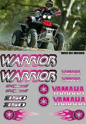 Warrior yamaha Decals Pink Stickers Graphics 14pc ATV QUAD, 350, 6 speed