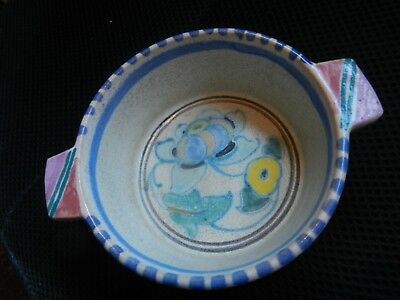 "Collard Honiton Jacobean Pattern  bowl With Handles 5.75"" across shape 38"
