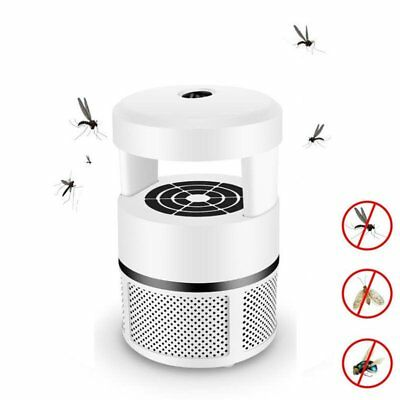 LED Electric Fly Zapper Mosquito Killer Lamp Bug Insect Pest Trap Light Black