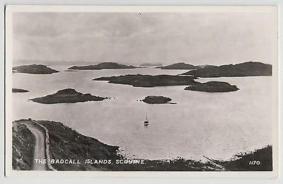 POSTCARD - The Badcall Islands, Scourie, Sutherland, Scotland real photo