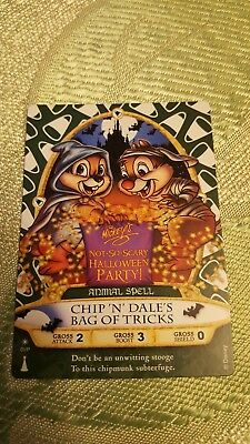 Magic Kingdom Sorcerer Card - Chip'n' Dale's -Not So Scary Halloween Party