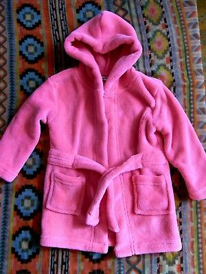 Early Days pink bath robe for baby girl - Size 6 -12 months