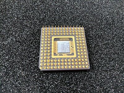 Intel 386 sized CPU with no markings and die exposed NOS Sample