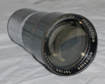 "Taylor Hobson 16mm Projection 3"" f1.65 Vintage Projector Lens"