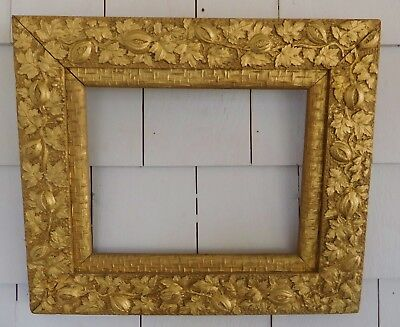 """Antique AESTHETIC GOLD FRAME w/ Leaves, Melons 10"""" x 8"""" - Victorian, Vintage"""