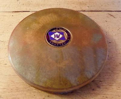 Interesting Vintage Stratton Compact with SS Helenus Enamel Emblem on the Lid.