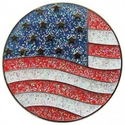 Navika US Flag Glitzy Ball Marker with Hat Clip. Navika USA Inc.