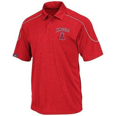 (6XL) - Los Angeles Angels Majestic Run Down Synthetic Polo Shirt Red Big &
