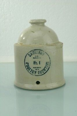 McCOY SANITARY STONEWARE POULTRY FOUNTAIN FEEDER/WATERER
