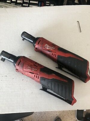 Used Milwaukee M12 3/8  And  1/4 Ratchets