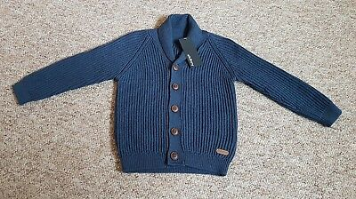 M&S Autograph Blue Navy Cardigan Knitwear 18-24 BNWT Marks and Spencer Cardi New