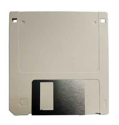 """2x HD 2MB/1.44MB 3.5"""" F Disk 2HD DS-HD Floppy Disc Unformatted White"""