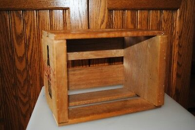 Vintage Rare Coca Cola CD Wood Crate Storage Small