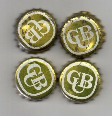 4 Carlton United Brewery Bottle Caps Good Condition