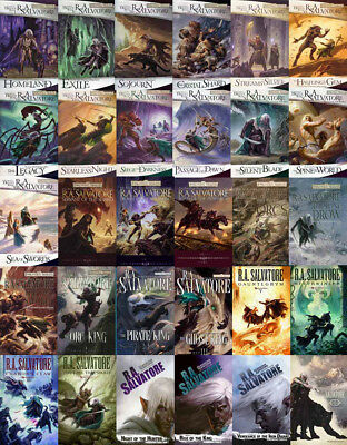 33 MP3 Audiobooks - The LEGEND OF DRIZZT Series By RA Salvatore