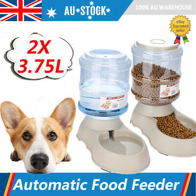 2X Automatic Pet Water Fountain Dog/Cat Drinking Bowl 3.75L Feeder Dispenser