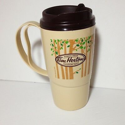Tim Hortons Thermo-Serv Forest Trees Travel Coffee Mug Cup 2012