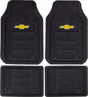 Officially Licensed Chevy All Weather Pro Heavy Duty Rubber Floor Mats Set