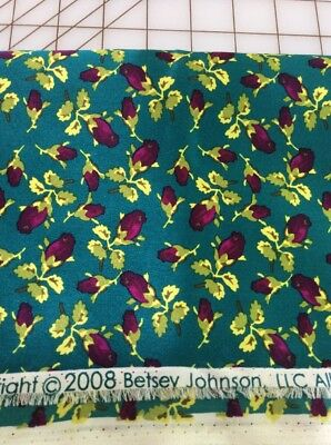 Gorgeous Designer Silk By Betsey Johnson Floral In Rich Jewel Colors