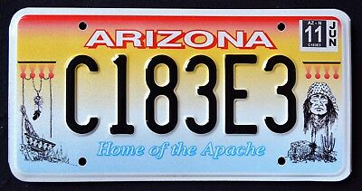 "ARIZONA ""  APACHE INDIAN NATION TRIBE GERONIMO "" AZ Specialty License Plate"