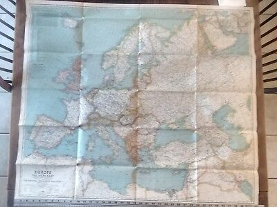 1940 Europe And The Near East National Geographic Vintage Wall Map
