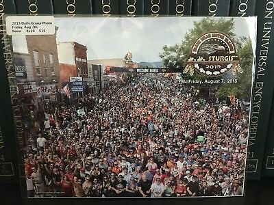 STURGIS Aug 7, 2015 ARE U IN THIS PHOTO?? Glossy 8x10 Harley Riders