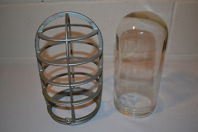 Vintage Crouse Hinds Explosion Proof Cage & Glass Globe Industrial Steampunk