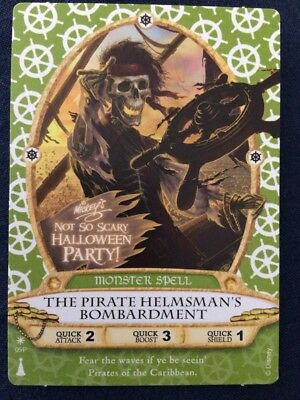 Magic Kingdom Sorcerer Card - The Pirates Helmsman -Not So Scary Halloween Party