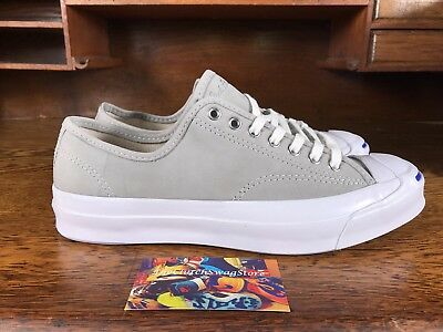 bf8530e5fc17 Converse Jack Purcell Signature Ox Mens Grey White Low Top Shoes 151447C  Size 8