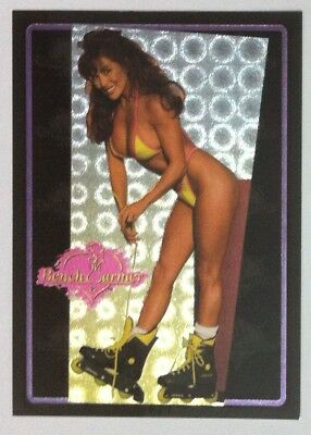 1994 Benchwarmer refractive Etched chase card #LP5 Kimiko Tanaka