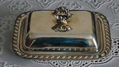 Vintage Canlerburg Silverplated Butter Dish with Lid