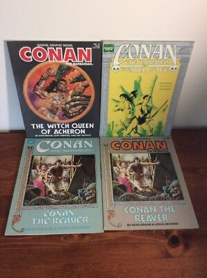 Conan the Reaver Witch Queen Skull Of Acheron Set MARVEL GRAPHIC Comic lot VF+