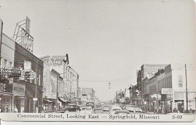 RPPC Photo Postcard View Of Commercial Street, Looking East, Springfield, MO