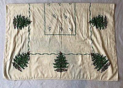 "Spode Christmas Tree Holiday Tablecloth 50"" x 70"" (4-6 Person Table)"