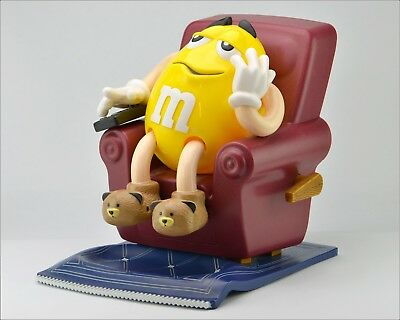 """Vintage Collectible Plastic """"M&M's"""" Character Dispenser 8.5"""" Chair, Mars INC."""