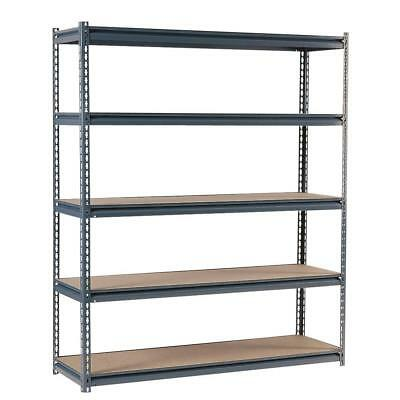 New Edsal Commercial Shelving Unit in Gray Steel 72 in. H x 60 in. W x 24 in. D