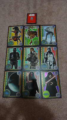 Carrefour Spain Star Wars Collector Trading Cards x9 Kylo Ren