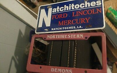 NATCHITOCHES FORD LINCOLN MERCURY NSU DEMONS License Plate LA free US shipping