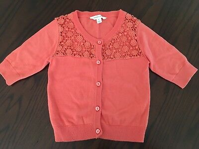 Girls Pumpkin Patch Size 8 Coral Cardigan