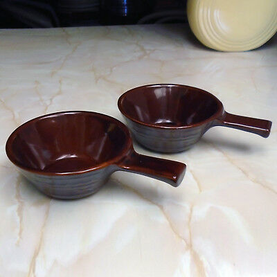 Pair Vintage Marcrest Daisy Dot Individual Casserole with Handle
