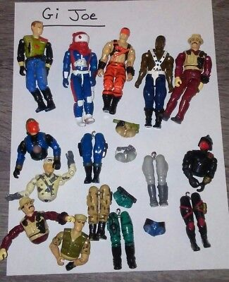 30. Vintage Gi Joe ARAH-Lot of figures and parts