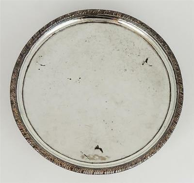 GEORGE III OLD SHEFFIELD PLATE Small FOOTED WAITER TRAY c1775
