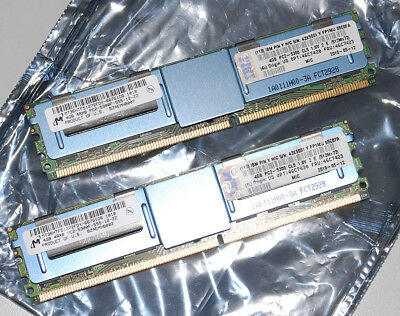 8GB KIT (4GB x 2) PC2-5300F Fully Buffered ECC / 667Mhz / FBDIMM Server DDR2 Ram